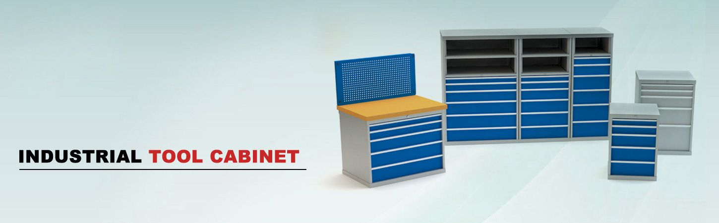 Industrial tool storage cabinets
